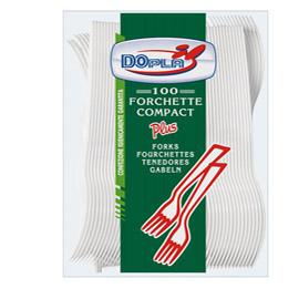 Forchette Compact Plus - monouso - polistirene - Dopla - conf. 100 pezzi