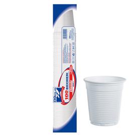 Bicchieri - monouso - 166 ml - bianco - Dopla - conf. 100 pezzi