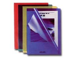 Cartelline a L Pratic - Superior - PPL - buccia - 22x30 cm - blu - Favorit - conf. 50 pezzi