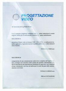 Cartelline a L Pratic - Superior - PPL - liscio - 22x30 cm - trasparente - Favorit - conf. 50 pezzi