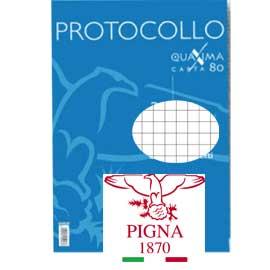 Foglio protocollo Quaxima - A4 - 4 mm - 80 gr - Pigna - conf. 30 fogli