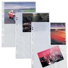 Buste forate Atla F porta foto - 4 spazi 15x21 cm - trasparente - Sei Rota - conf. 10 pezzi