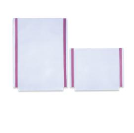 Tasche GS adesive con soffietto - PVC - 22x18 cm - trasparente - Sei Rota - conf. 10 pezzi
