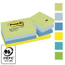 Blocco foglietti Colori Dream - colori assortiti - 38 x 51mm - 72 gr - 100 fogli - Post it