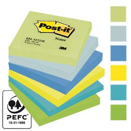 Blocco foglietti Colori Dream - colori assortiti - 76 x 76mm - 72gr - 100 fogli - Post it