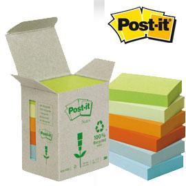 Blocco Post it  Z Notes Green - linea Natural - 38 x 51mm - 100 fogli - riciclabile 100 - Post it