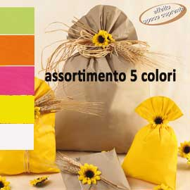 Buste regalo Mat Pearly B - in PPL - assortimento 5 colori - 20 x 35cm - PNP - conf. 100 buste