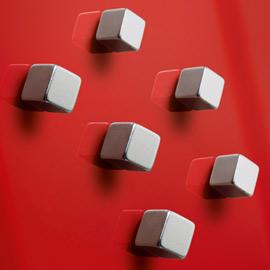 Magneti SuperDym C5 Strong - argento - Sigel - conf. 6 pezzi