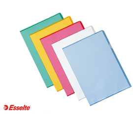 Cartelline a L De Luxe - PPL - buccia - 21 x 30 cm - giallo - Esselte - conf. 25 pezzi