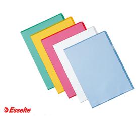 Cartelline a L De Luxe - PPL - buccia - 21 x 30 cm - blu - Esselte - conf. 25 pezzi