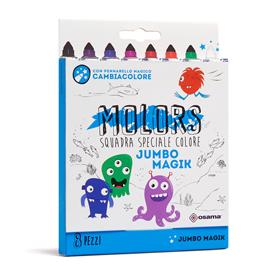 Pennarelli Molors Magik - colori assortiti - Osama - astuccio 8 pezzi