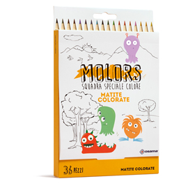 Matite colorate Molors - Osama - astuccio 36 pezzi