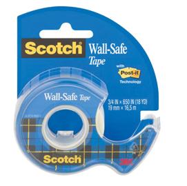 Nastro adesivo con chiocciola Scotch  Wall Safe - removibile - 19 mm x 16