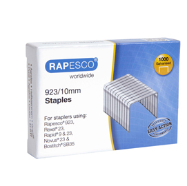 Punti in metallo - 23/10 - metallo - Rapesco - conf. 1000 pezzi