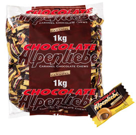 Caramelle Alpenliebe Chocolate - busta da 1 kg