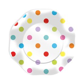 Piatti - multicolor - pois - D 23 cm - Big Party - conf. 10 pezzi