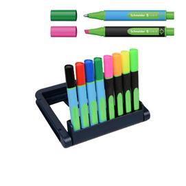 Sfere + evidenziatori Link/IT - colori assortiti - Schneider - astuccio 4 + 4 pezzi