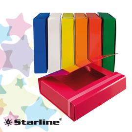 Cartella progetto - con elastico - dorso 5 cm - rosso - Starline