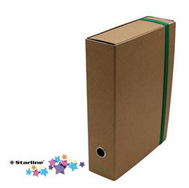 Scatola progetto con elastico - cartone FSC- dorso 8 cm - 25x35 cm - avana - Starline