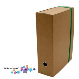 Scatola progetto con elastico - cartone FSC - dorso 10 cm - 25x35 cm - avana - Starline