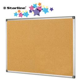 Lavagna sughero - 90x120 cm - cornice in alluminio - Starline