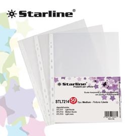 Buste forate Medium - buccia - 22x30 cm - trasparente - Starline - conf. 50 pezzi