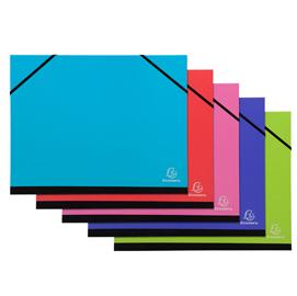 Cartella porta disegni con elastici Ideramama - A4 - colori assortiti - Exacompta