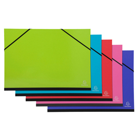 Cartella porta disegni con elastici Ideramama - A3 - colori assortiti - Exacompta