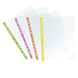 Buste forate - PPL - con banda arancio neon - 22 x 30 cm - Favorit - conf. 25 pezzi