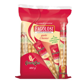 Grissini Fagolosi - gusto classico - GrissinBon - multipack 480 gr (40 pezzi x12gr)