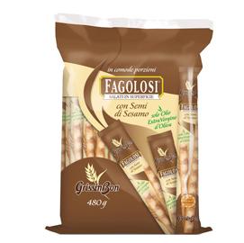 Grissini Fagolosi - gusto classico con sesamo - GrissinBon - multipack 480 gr (40 pezzi x12gr)