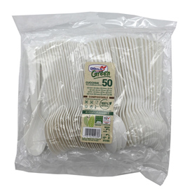 Cucchiai compact - in CPLA - 160 mm - biancoi - Dopla - conf. 50 pezzi
