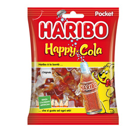 Caramelle gommose Happy Cola - f.to pocket 100 gr - Haribo