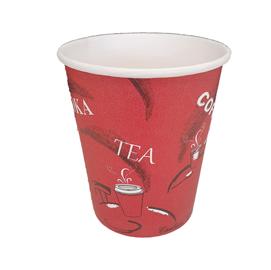 Bicchieri in carta - 240 ml - rosso - Leone - conf. 1000 pezzi